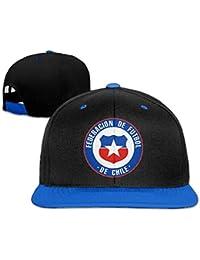Runy Custom adulto Federacion de futbol de Chile ajustable Hip Hop sombrero y gorra, Azul