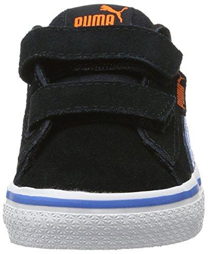 Puma 1948 Vulc V Inf, Sneakers Basses Mixte Enfant Noir (Puma Black-french Blue 09)