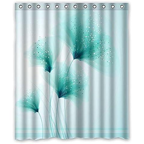 Il nuovo modo personalizzato Home Decor personalizzati tenda della doccia, sfondo verde dente di leone Design Pattern impermeabile cortina di muffa doccia, 152 cm x183 cm (60x72 pollici). - Leone Pantofole