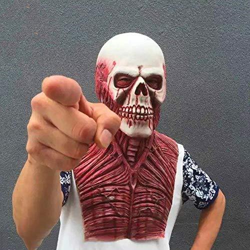 CCNIU Halloween Maske Peeling Mann Horror Zombie Maske Scary Latex Simulation Zombie Kopfbedeckung Tricks