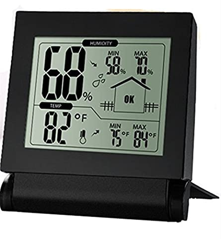 Habor Humidity Meter Digital Hygrometer Thermometer, Intelligent Humidity and Temperature Monitor with Accurate Readings and Min/Max Records