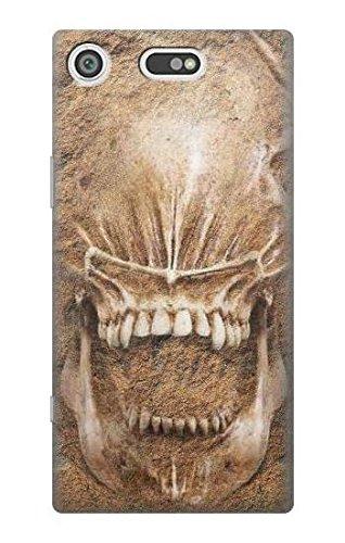 Alien Skull Fossil Hülle Schutzhülle Taschen für Sony Xperia XZ1 Compact