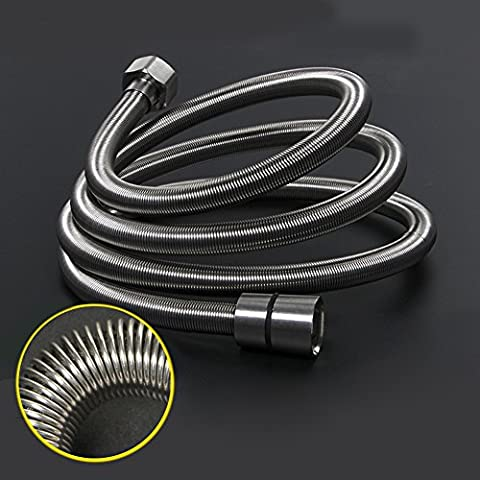 LEEFE 304 Stainless Steel Spring Shower Hose Three Layers Design Replacement Pipe with Brass