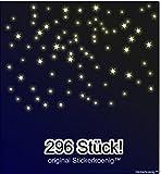 Stickerkoenig Kinderzimmer Wandtattoo 296 Stück Leuchtsterne Sternenhimmel leuchten im Dunkeln