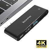 USB-C Multiport Adapter, iMXPW Quadrano Thunderbolt 3 Hub mit HDMI für Neuer MacBook Pro, USB Type-C Hub mit Pass-Through Aufladen, 4K HDMI, USB 3.0 Anschlüsse, SD/Micro SD Kartenleser 5 in 1