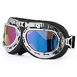 RotSale 1x Bunt Snowboardbrille Schneebrille Skibrille Motorradbrille Schutzbrille Augenschutz Vollschutzbrille Fliegerbrille Vollsichtschutzbrille Winddicht für Biker Pilot Sport Outdoor