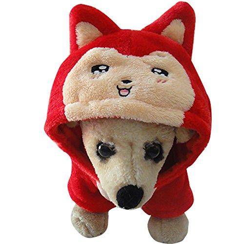 und Halloween Cat Kostüm Hund Cosplay Puppy Kleidung Puppy Winter Warm Mantel Für Haloween Weihnachten (Hund Haloween Kostüme)