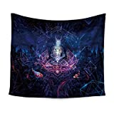 Abstract sci-fi statue wolf-like print tapestry wall-mounted beach towel