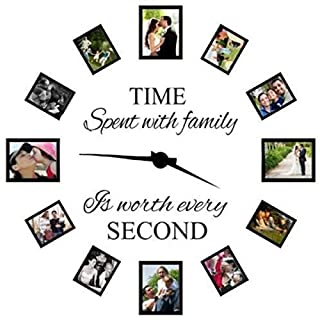 Bluelover Time Spent With Family Is Worth Every Second Decoration Wall Sticker