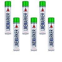 Aerosol Solutions Green Line Marker Marking Spray Paint x 6 750ml