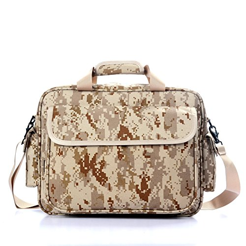 yakeda Tactical Brief Fall Outdoor 39,6cm Laptop Bag Multifunktions Handtaschen Aktentasche camouflage-dn011 Three sand camouflage (Brief Bag Aktentasche)