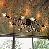 Vintage Deckenleuchte OYI Industrielle Pendelleuchte Kronleuchter Leuchte mit E27 Lampefassung für Wohnzimmer Schlafzimmer Esszimmer Flur Bar Café Restaurant