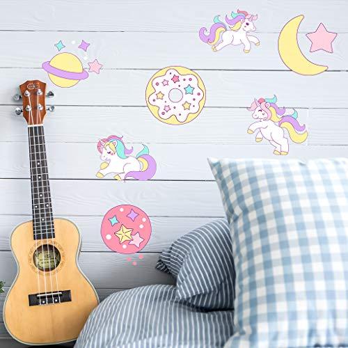 Einhorn Pferd Wandtattoo für Mädchen Jungen Schlafzimmer, Qkurt große Vinyl-Wohnraumdekortion für Kinder im Wohnzimmer-Zimmer Girls Room Décor (Room Decor Mädchen)