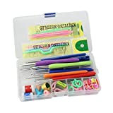 Electomania™ Knitting Crochet Hook Tools Accessories Supplies With Case Knit Kit