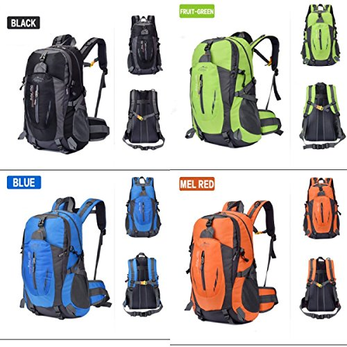 LQABW Männer Und Frauen Mountaineering Außen Wandern Schulter-Spielraum-wasserdichten Outdoor-Paar-Tasche Backpack55L Blue