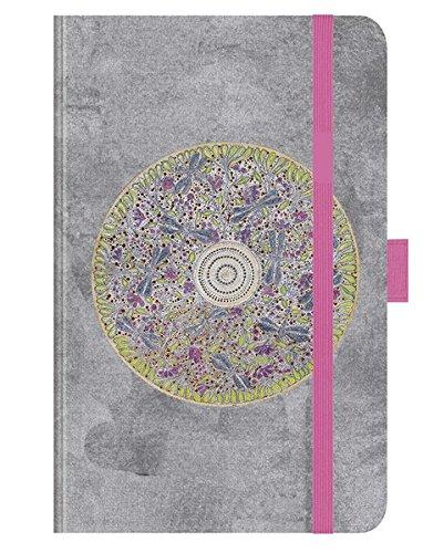 """Premium Timer Small \""""Libellen-Mandala\"""" 2018: Buchkalender - Terminplaner mit hochwertiger Folienveredelung und Prägung. 9 x 14 cm"""