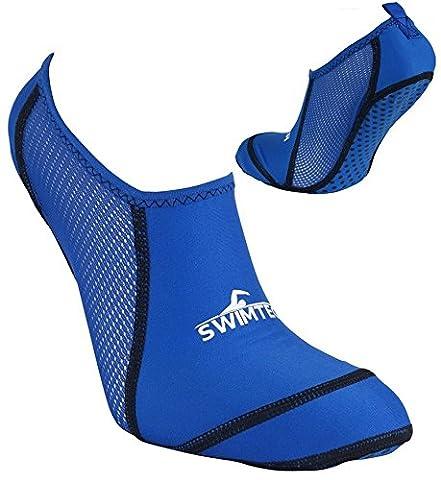Chaussettes De Natation Enfant - piscine Chaussette–Junior–Bleu, bleu, UK Kids Shoe Size
