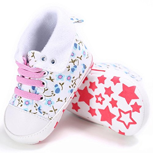 Igemy Baby Canvas Soft rutsch Schuhe Kleinkind Prewalker 1paar Weiß Niedlich Anti rpq7rw