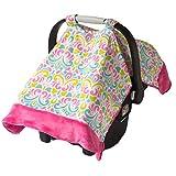 Itzy Ritzy Cozy Happens Infant Car Seat Canopy &Tummy Time Mat (Brocade Splash