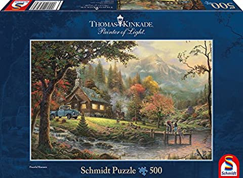 Schmidt Spiele 58465 - Puzzle - Idylle am Fluss, 500 Teile