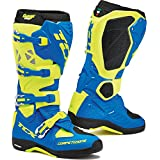 9661 - TCX Comp Evo Michelin Motocross Boots 41 Royal Blue Yellow Fluo (UK 7.5)