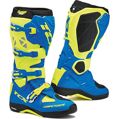 Tcx Comp Off-road-boot (9661 - TCX Comp Evo Michelin Motocross Boots 43 Royal Blue Yellow Fluo (UK 9))