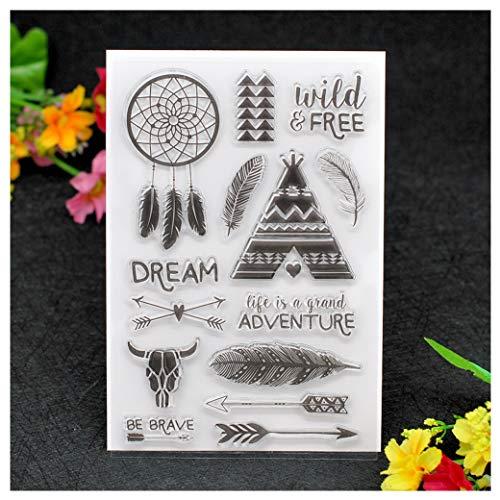 Kwan Crafts timbri trasparenti con fiori e foglie per decorare biglietti e scrapbooking fai da te