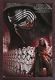 Empire Poster Star Wars EP7kylo Ren Masque + accessoire de fixation Cadre panneau MDF/noyer