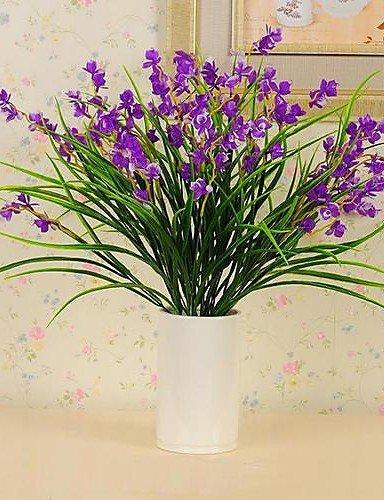 HUAHUA,Künstliche Blumen, Kunststoff Seidentuch hochwertigen Simulation Iris Blume