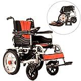 Faltbar Alter Mann Elektrisch Rollstuhl Deaktiviert Roller Elektrisch Vier Runden Leicht Rollstuhl -Doppelmotor (Rechte Handsteuerung) Von MAG.AL