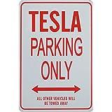 Signes de stationnement TESLA - TESLA Parking Only Sign