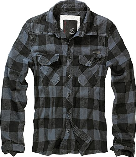 Brandit Check Shirt Black-Grey XL
