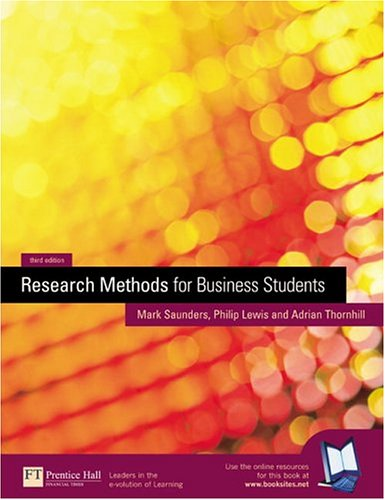 research methods for business students mark saunders