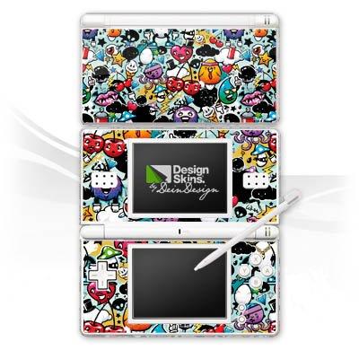 DeinDesign Nintendo DS Lite Case Skin Sticker aus Vinyl-Folie Aufkleber Graffiti Bunt Sticker Style Monster
