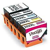 Vmosgo 202XL Ersatz für Epson 202 202XL Druckerpatronen 5 Farbe Kompatibel mit Epson Expression Premium XP-6000, XP-6005 (1 Schwarz,1 Photo Schwarz,1 Cyan, 1 Magenta, 1 Gelb)