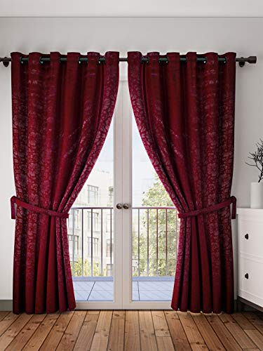 check MRP of maroon curtains for bedroom Cortina