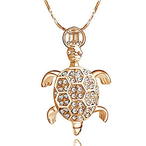 Collier Tortue - Yoursfs Collier tortue agréable 18k or plaqué
