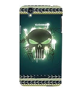 Fuson 3D Printed Skull Designer back case cover for YU Yureka - D4183