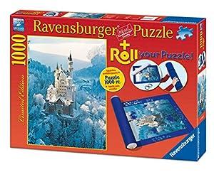 Ravensburger - Roll your puzzle + puzzle 1000 piezas, diseño Neuschwanstein en invierno (19908 2)