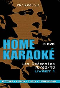 Coffret home karaoke, les decennies 70/80/90, vol. 1