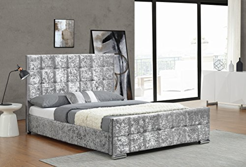 cherry-tree-furniture-luxurious-crushed-velvet-upholstered-bed-frame-bedstead-4ft6-double-silver