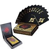 Cartes de poker imperméable noir cartes à jouer cartes de poker professionnels jouant cartes cartes à jouer en plastique de qualité supérieure Poker en plastique pour votre expérience de poker