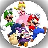 Fondant Tortenaufleger Tortenbild Geburtstag Super Mario N2