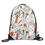 DSGFSQ Sporttaschen Turnbeutel Gym Drawstring Bags Tree Cloud Cat Draw Rope Shopping Travel Backpack Tote Student Camping