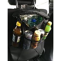 Bebidas Bolsa Bolso Botella Funda para asiento parte trasera + Dispensador de servilletas para coche asiento
