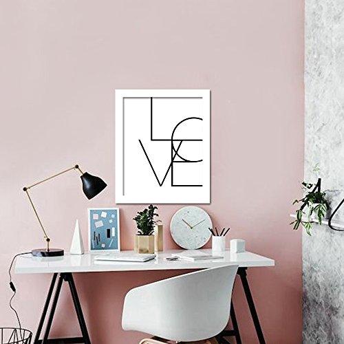 WALPLUS Love Art Wandaufkleber, Vinyl, Mehrfarbig, 40 x 30 x 3 cm