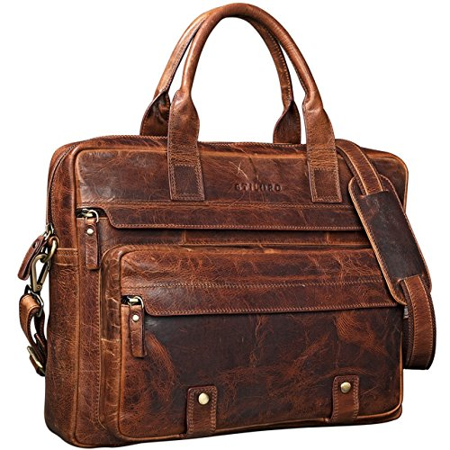 da0b225d0 Más Barato STILORD 'Leander' Bolsa de Negocios 15.6'' para Laptop Bolso de  piel para Hombres Mujeres Trabajo Borsa de cuero auténtico , Color:kara -  cognac ...