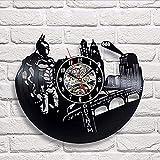 Yddlie Vintage Vinyl Record Designer Horloge murale Décorez votre maison avec l'art moderne de super-héros de DC Comics, le meilleur cadeau pour homme