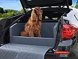 Travelmat PLUS Kofferraum Hundebett fürs Auto 110x90 cm Kunstleder mit orthopädischer Liegefläche grau