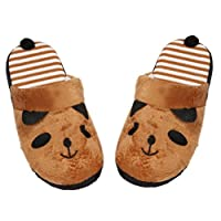 LuckyBB Lovely Cartoon Panda Home Floor Soft Stripe Slippers Female Shoes, Size EU36-40